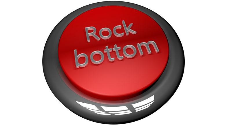 Rock Bottom Button