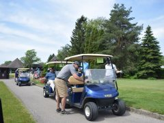 Mark Lined Up to Tee Off