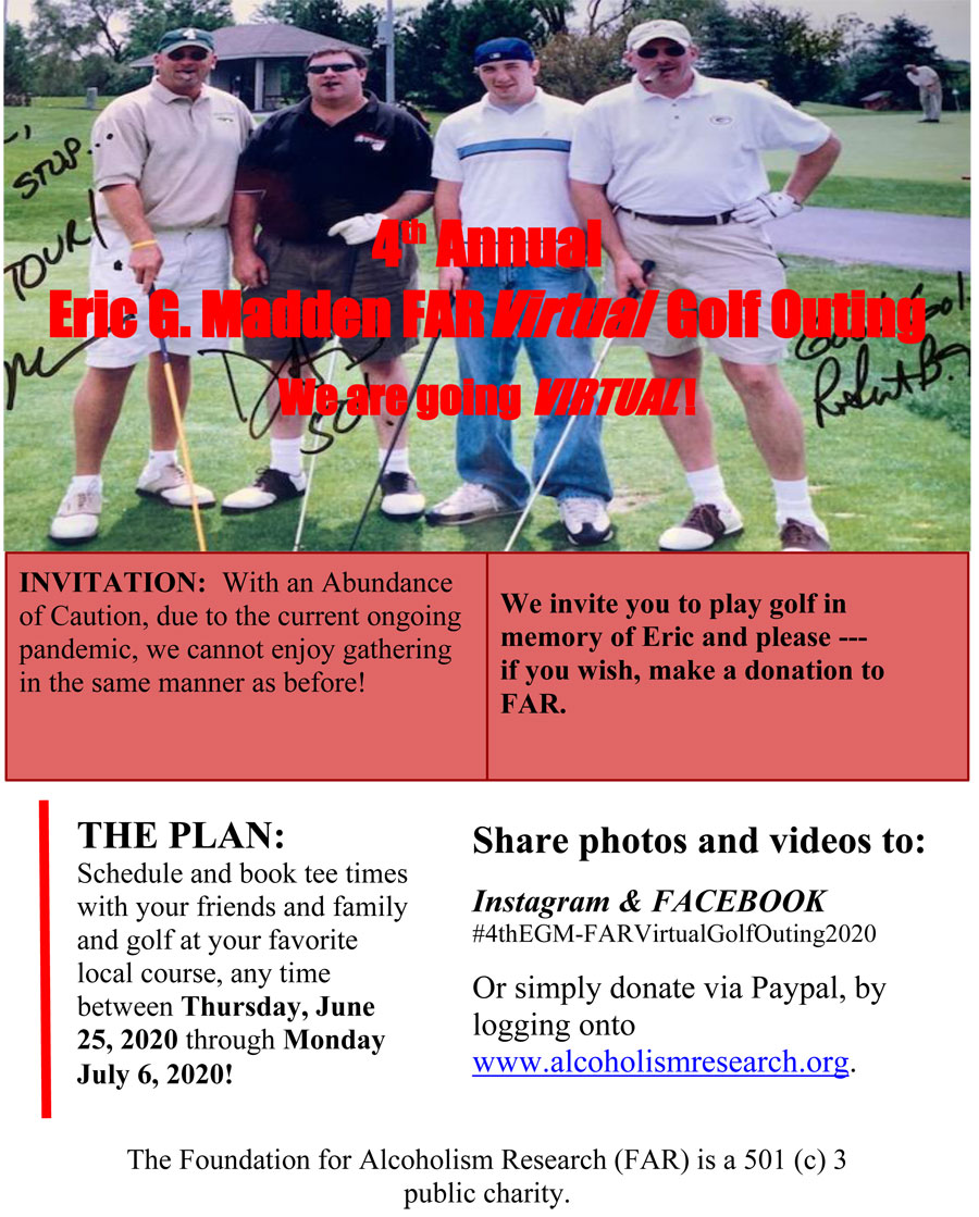 4th Annual Eric G Madden VIRTUAL Golf Outing Flyer