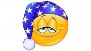 Good night yellow ball with nightcap