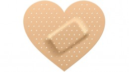 Band aid in shape of heart